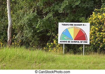 Fire danger sign - Australian fire danger chart