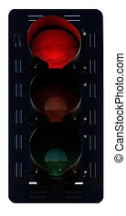 Isolated Traffic Signal with Red Light Active