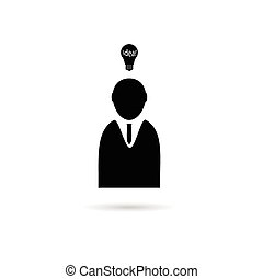 idea with people icon vector