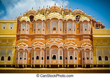 Hawa Mahal rear facade - Hawa Mahal palace (Palace of the...