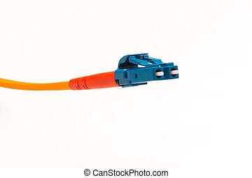 Glasfaserkabel Anschluss LC - Ein Glasfaserkabel LC in...