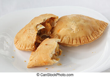 Curry puff pastry - Curry puff, spicy pastry asian empanada...