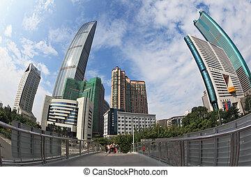 Pedestrian bridge in the city center - SHENZHEN - CITY IN...