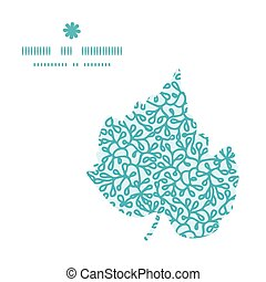 Vector abstract underwater plants leaf silhouette pattern...