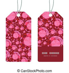Vector ruby vertical stripe frame pattern tags set