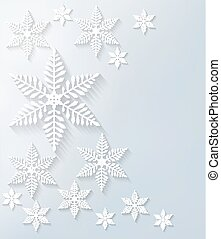 Snowflake background. Vector.