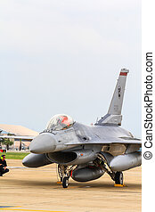 BANGKOK, THAILAND - JUNE 30: F-16 of Royal Thai air force...