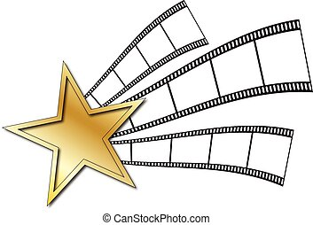 film strip with star