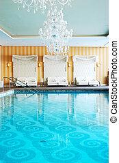 Modern SPA in the luxury hotel at ski resort, Strbske pleso,...