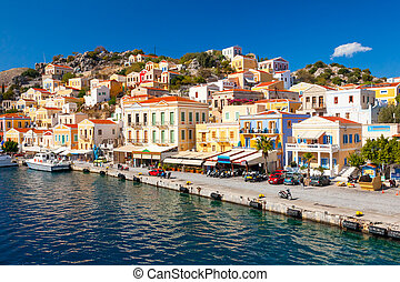 Symi Greece Europe - Beautiful summers day on the Greek...