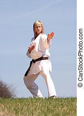 karate, niña