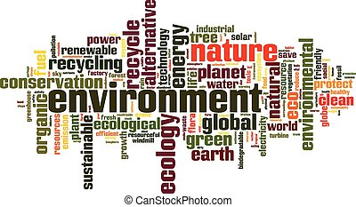Environment word cloud concept Vector illustration