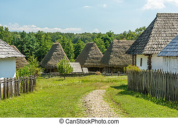 Romanian Village View - Old Romanian Village View In The...