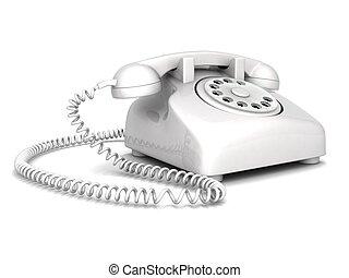 landline phone - three dimensional landline phone with white...