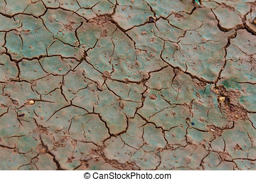 Dry Soil - Textured Of Dry And Crack Soil