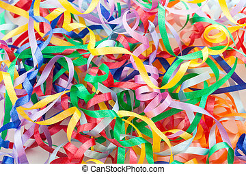 Colorful decorative gift ribbons as background - Colorful...