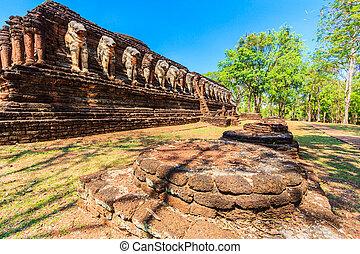 Kamphaeng Phet Historical Park in old town Kamphaeng Phet...
