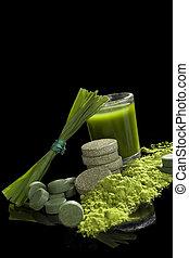 Detox. Green food supplements.