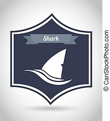 shark design - shark graphic design , vector illustration