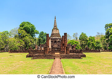 Si Satchanalai Historical Park in old town Sukhothai...
