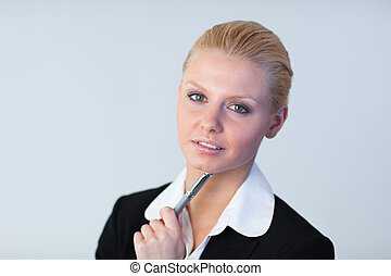 Business woman looking at the camera - Young Business woman...