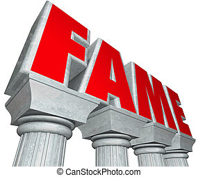 Fame Marble Columns Popularity Famous Celebrity - Fame word...