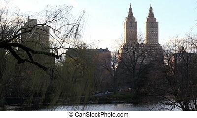 Central Park West in New York - View of Central Park West...