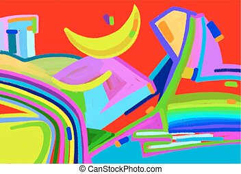 original digital art abstract colorful composition, vector...