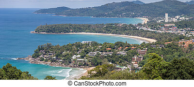 Panorama Karon View Point - Panorama Aerial view of Bay and...