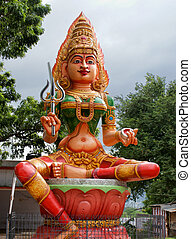 Hindu Goddess - Statue of a hindu goddess outside of...