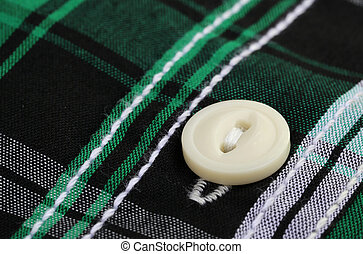 Button on a cloth