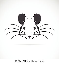 Vector image of an rat head