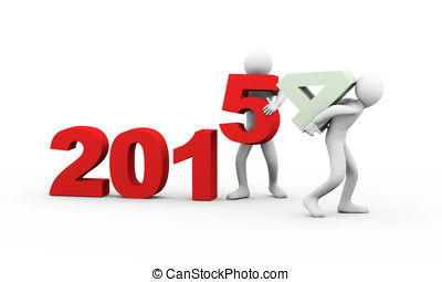 3d people working year 2015