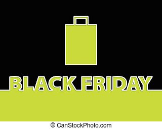Black friday background with shopping bag
