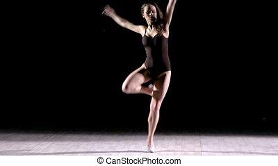 Dance Rehearsal - Dance performer rehearsing in studio