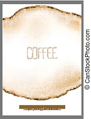 Abstract vector coffee stain - Abstract vector round coffee...