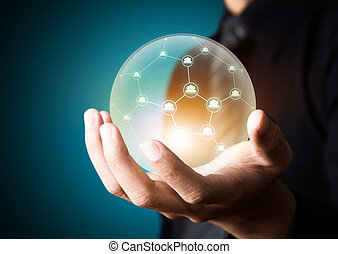 Social network in crystal ball