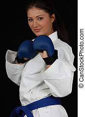 Karate Girl - Beautiful young teen in karate suit