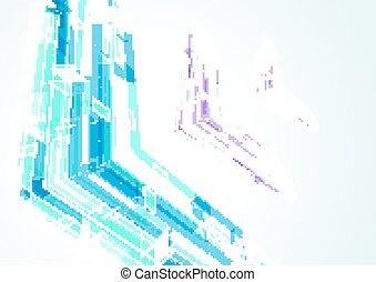 Abstract bright geometrical arrows