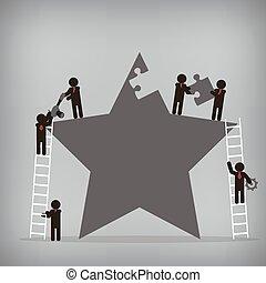 Business teamwork,  Vector illustration for concept, presentation.