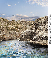 Dell - Beautiful famous canyon in Malta from the sea