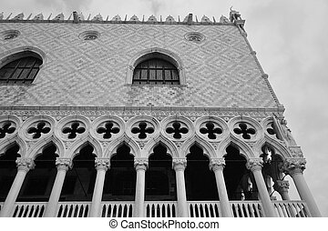 Palazzo Ducale - Architectural detail of the Doges Palace...
