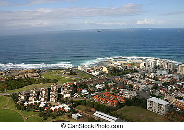 Newcastle Australia from the air