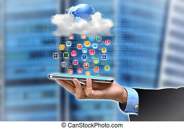 Cloud Application - A concept of smartphone accessing...
