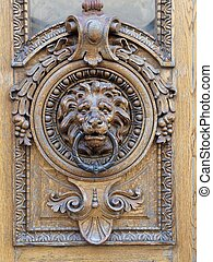 Door Knocker - lion head door knocker