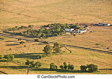 Typical country house in Extremadura - Aerial view of...