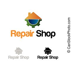 Repair shop logo