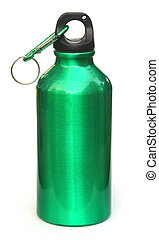 Water bottle over white background