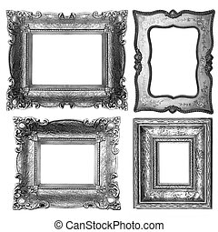 Picture Frames - Old Dark Picture Frames