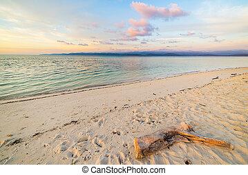 Romantic seascape at dusk